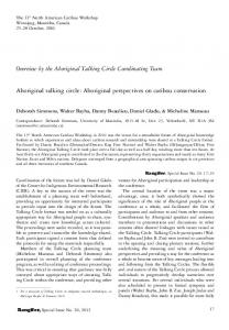 Overview by the Aboriginal Talking Circle Coordinating Team ...