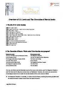 Overview of C.S. Lewis and The Chronicles of Narnia books