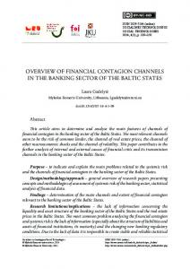 overview of financial contagion channels in the banking ... - CEEOL