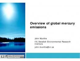 Overview of global mercury emissions