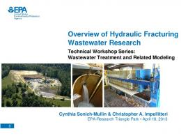 Overview of Hydraulic Fracturing Wastewater Research (PDF)