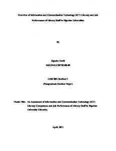 Overview of Information and Communication Technology (ICT ...