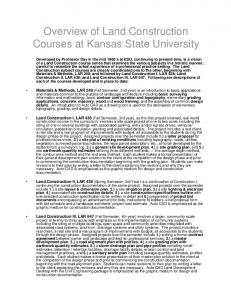 Overview of Land Construction Courses at Kansas State University