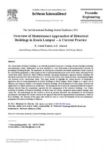 Overview of Maintenance Approaches of Historical ... - ScienceDirect