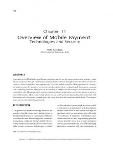 Overview of Mobile Payment