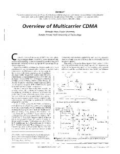 Overview Of Multicarrier CDMA - IEEE Communications Magazine