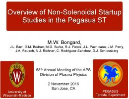 Overview of Non-Solenoidal Startup Studies in the Pegasus ST