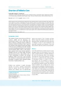 Overview of Palliative Care