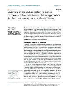 Overview of the LDL receptor: relevance to cholesterol ... - Enzimologia