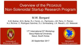 Overview of the Pegasus Non-Solenoidal Startup ...