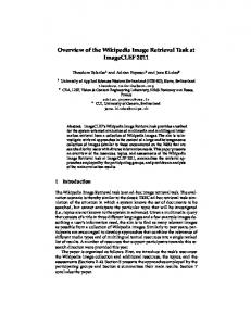 Overview of the Wikipedia Image Retrieval Task at ... - Semantic Scholar