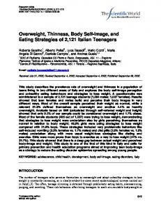 Overweight, thinness, body self-image and eating strategies of 2,121