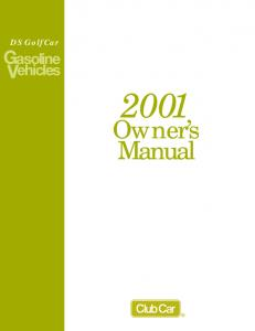 Owner's Manual - Club Car