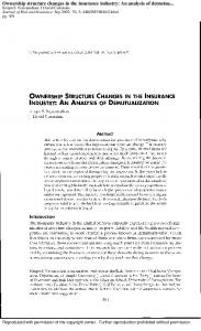 Ownership structure changes in the insurance industry