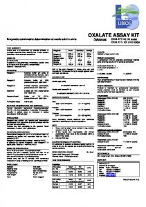 oxalate assay kit