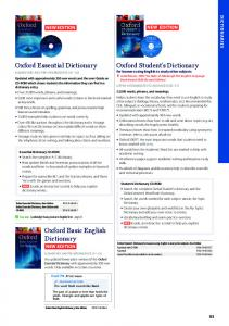 Oxford Basic English Dictionary Oxford Essential Dictionary Oxford ...