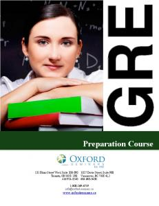 Oxford Seminars: GRE Test Preparation