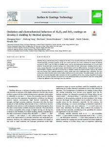 Oxidation and electrochemical behaviors of Al2O3