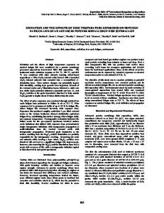 Oxidation and the Effects of High Temperature Exposures on Notched ...