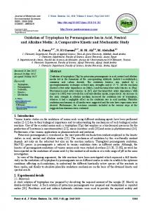 Oxidation of Tryptophan by Permanganate Ion in Acid, Neutral and ...