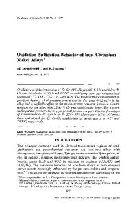 Oxidation-sulfidation behavior of iron-chromium-nickel ... - Springer Link
