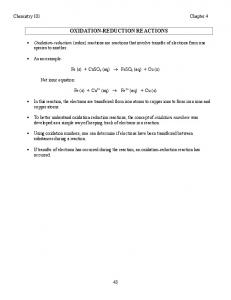 OXIDATIONREDUCTION REACTIONS