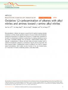 Oxidative 1,2-carboamination of alkenes with alkyl nitriles and ... - Nature