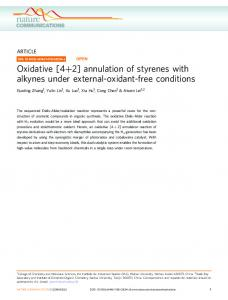 Oxidative [4+2] annulation of styrenes with alkynes under ... - Nature