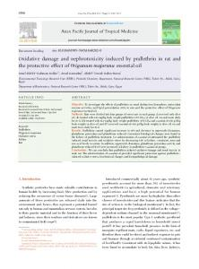Oxidative damage and nephrotoxicity induced by ... - ScienceDirect