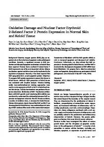 Oxidative Damage and Nuclear Factor Erythroid 2-Related Factor 2 ...