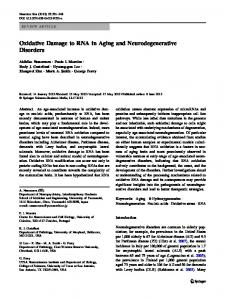 Oxidative Damage to RNA in Aging and Neurodegenerative Disorders ...