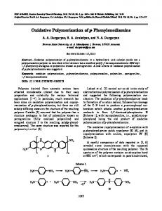 Oxidative Polymerization of p-Phenylenediamine - Springer Link