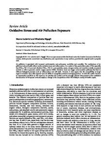 Oxidative Stress and Air Pollution Exposure