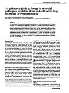 oxidative stress and anti-folate drug resistance in ... - Semantic Scholar