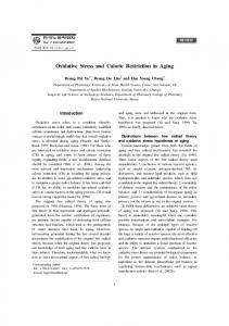Oxidative Stress and Calorie Restriction in Aging