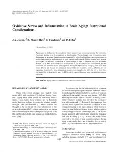 Oxidative Stress and Inflammation in Brain Aging: Nutritional ...