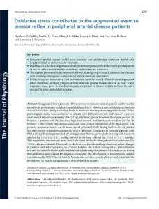 Oxidative stress contributes to the augmented ... - Wiley Online Library