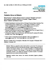 Oxidative Stress in Malaria - BioMedSearch