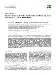 Oxidative Stress in Neurodegenerative Diseases: From Molecular
