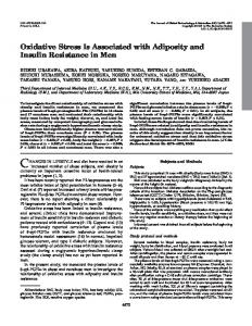 Oxidative Stress Is Associated with Adiposity and Insulin Resistance in ...