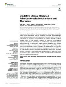 Oxidative Stress-Mediated Atherosclerosis
