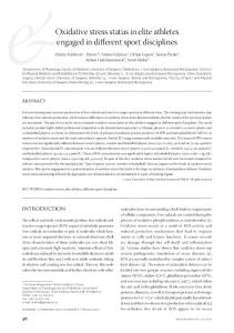 Oxidative stress status in elite athletes engaged in