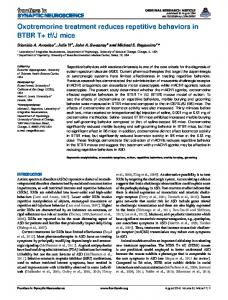 Oxotremorine treatment reduces repetitive behaviors in ... - Frontiers