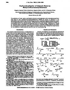 Oxyfunctionalization of Aliphatic Esters by Methyl(trifluoromethyl ...