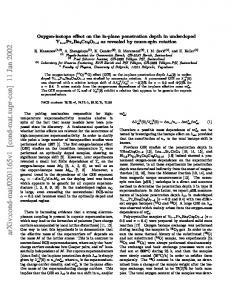 Oxygen-isotope effect on the in-plane penetration depth in ...