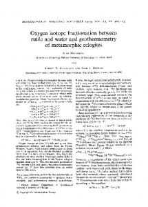 Oxygen isotope fractionation between rutile and water and ... - RRuff