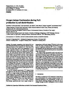 Oxygen isotope fractionation during N2O production by soil ... - Core