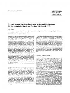 Oxygen isotope fractionation in zinc oxides and ...