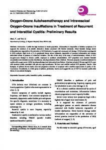 Oxygen-Ozone Autohaemotherapy and