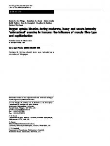 Oxygen uptake kinetics during moderate, heavy and ... - Springer Link